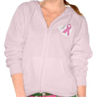 Sudadera con capucha rosada de la cinta