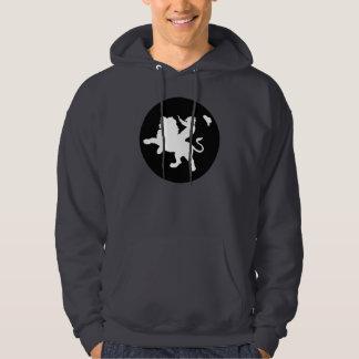 Sudadera con capucha sana del pueblo fantasma B&W