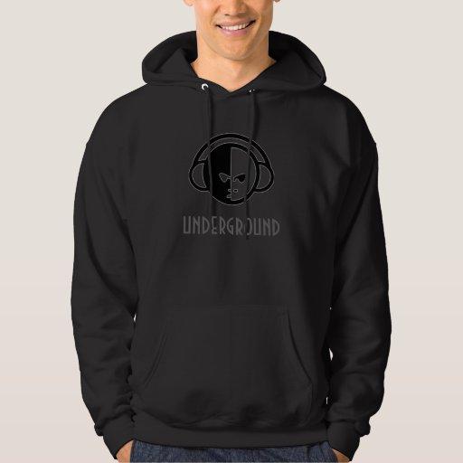 Sudadera con capucha subterráneo (negro)