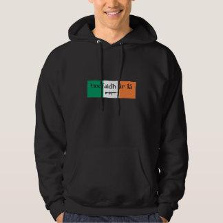 Sudadera con capucha tricolora irlandesa de la
