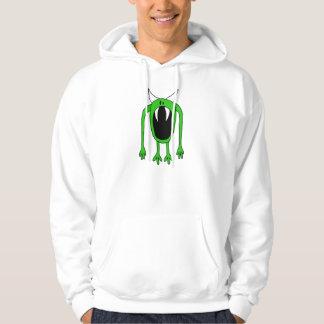 Sudadera con capucha verde del monstruo