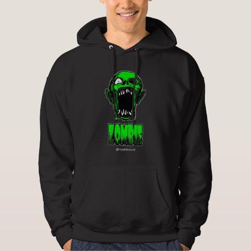 Sudadera con capucha verde del zombi