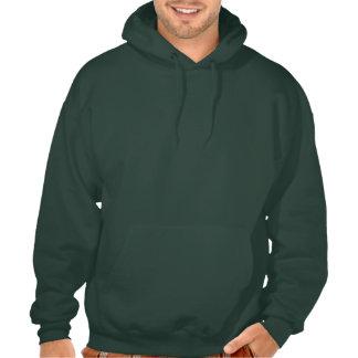 Sudadera con capucha verde oscuro de la bandera