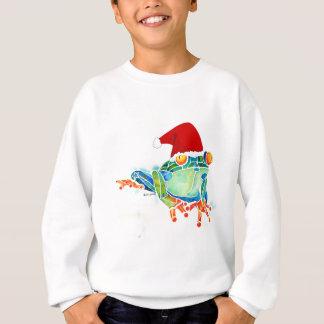 Sudadera de la rana de árbol de navidad