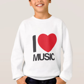 Sudadera I love music blanca Sweatshirt