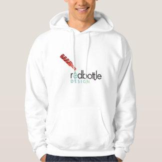 Sudaderas con capucha blancas del Logotipo-ed de
