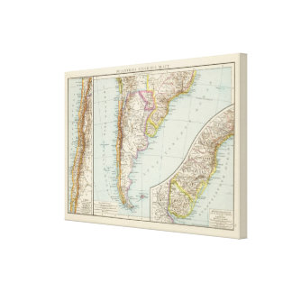 Sudamerika sudliches Blatt - South America Map Canvas Print