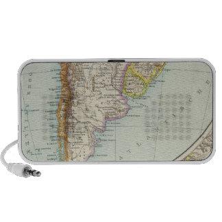 Sudamerika sudliches Blatt - South America Map Mini Speaker