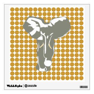 Sudan Brown Safari Dot with Pop Art Elephant Wall Decal