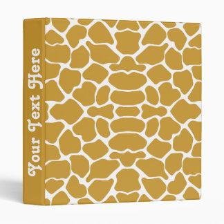 Sudan Brown Safari Giraffe with text 3 Ring Binder