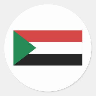 Sudan Classic Round Sticker