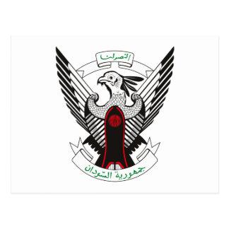 Sudan Coat of Arms Postcard
