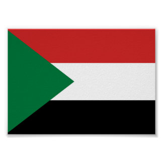 sudan country flag nation symbol poster
