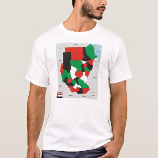 sudan country political map flag T-Shirt