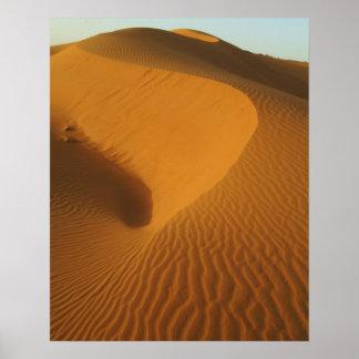 Sudán, del norte (Nubia), dunas en el desierto Poster