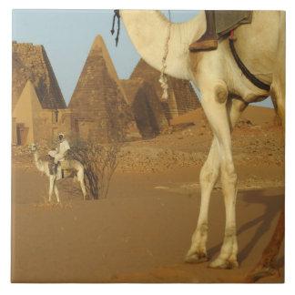 Sudán, del norte (Nubia), pirámides de Meroe con Azulejo Cuadrado Grande