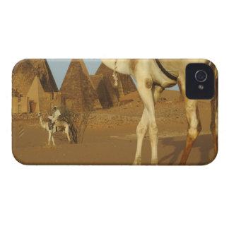Sudán, del norte (Nubia), pirámides de Meroe con iPhone 4 Carcasas