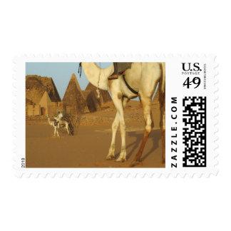 Sudán, del norte (Nubia), pirámides de Meroe con Timbres Postales