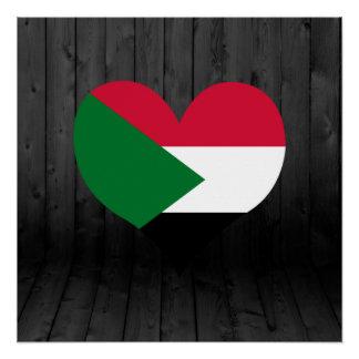 Sudan flag colored poster