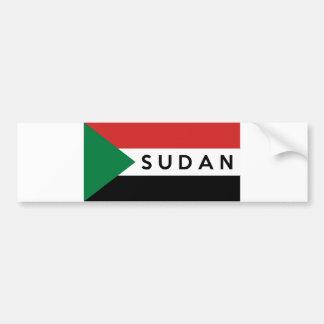 sudan flag country text name bumper sticker