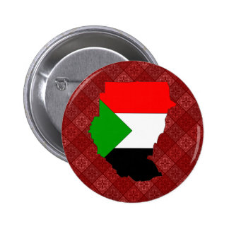 Sudan Flag Map full size 2 Inch Round Button