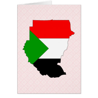 Sudan Flag Map full size Greeting Card