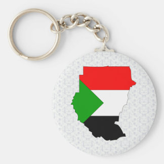 Sudan Flag Map full size Basic Round Button Keychain