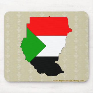 Sudan Flag Map full size Mouse Pad