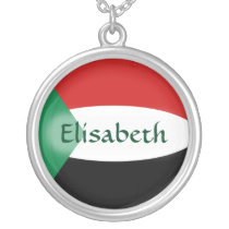 Sudan Flag   Name Necklace