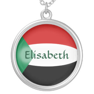 Sudan Flag + Name Necklace