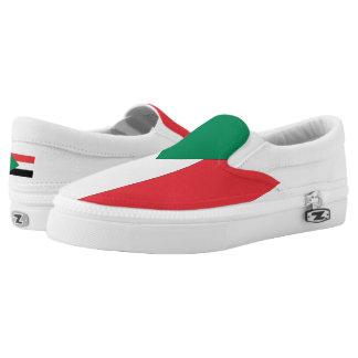 Sudan Flag -.png Slip-On Sneakers