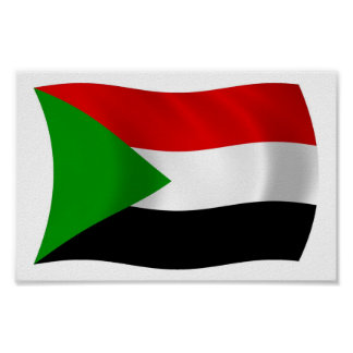 Sudan Flag Poster Print