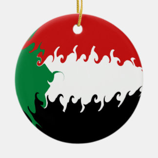 Sudan Gnarly Flag Ceramic Ornament