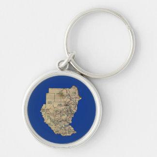 Sudan Map Keychain