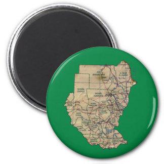 Sudan Map Magnet