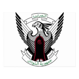 Sudan National Emblem Postcard