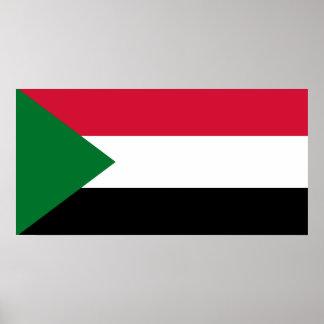 Sudan National World Flag Poster