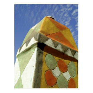 Sudan, North (Nubia), Decorated roof Postcard