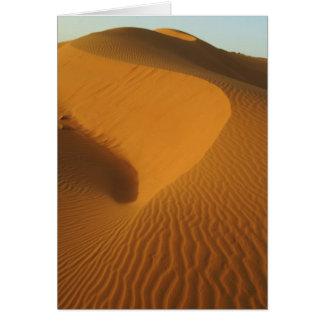 Sudan, North (Nubia), dunes in the desert Card