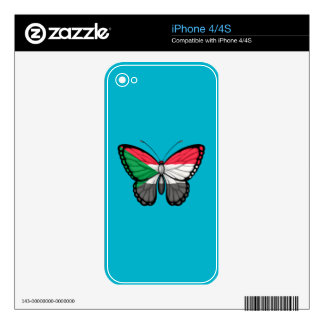 Sudanese Butterfly Flag Skins For iPhone 4