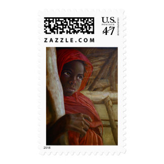 Sudanese Girl Postage