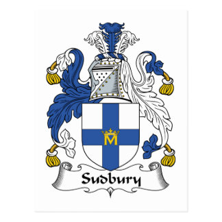 Sudbury Family Crest Postcard