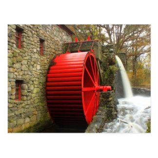 Sudbury Grist Mill Water Wheel Postcard