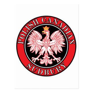 Sudbury Polish Canadian Eagle Postcard