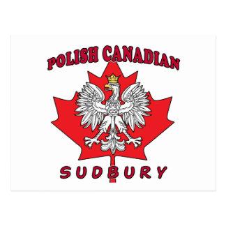 Sudbury Polish Canadian Leaf Postcard