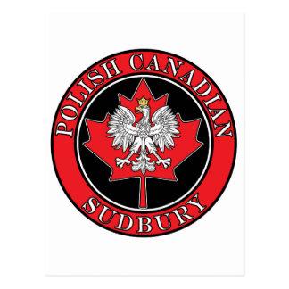Sudbury Round Polish Canadian Leaf Postcard