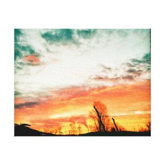 Sudbury Saturday night sunset Canvas Print