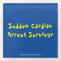 Sudden Cardiac Arrest Survivor Glass Coaster