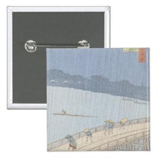 Sudden Shower on Ohashi Bridge at Ataka Button