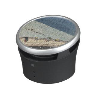 Sudden shower over Shin-Ōhashi bridge and Atake Bluetooth Speaker